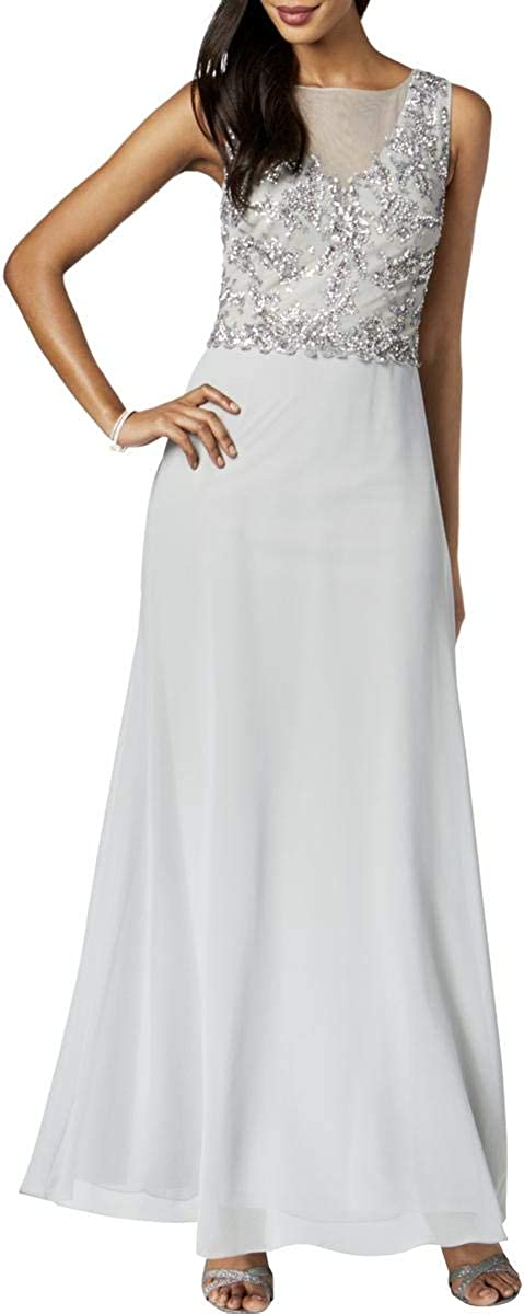 Adrianna Papell Women's Long Gown with Beaded Bodice