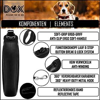 DDOXX Laisse Chien Enrouleur, Réfléchissante   Nombreuses Couleurs & Tailles   pour Petit, Moyen Gros & Grand   Laisses rétractable Chat Chiot   S, 4 m, à 10 kg, Noir
