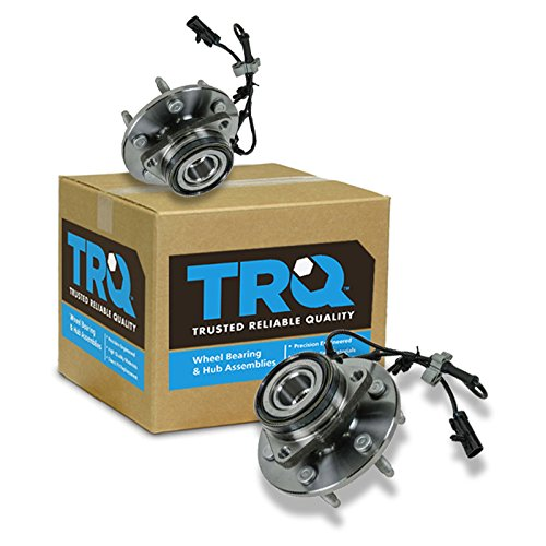 TRQ 2 Front Wheel Hubs & Bearings Pair Set...
