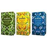 Pukka Bio-Tee Set, Teeauswahl für den ganzen Tag mit den Teesorten Matcha Green, Kurkuma Aktiv und...