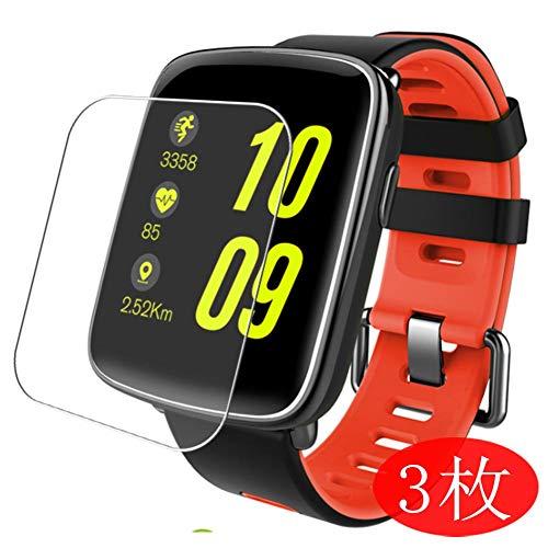 Vaxson 3 Stück Schutzfolie kompatibel mit Smartwatch smart Watch GV68, Displayschutzfolie Bildschirmschutz Blasenfreies TPU Folie [Nicht Panzerglas]