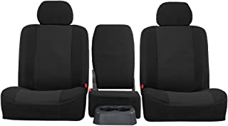 SHEAR COMFORT Front Seats: ShearComfort Custom OEM Seat Covers for Chevy Silverado (2003-2007) in Black for 40/20/40 w/Fixed Middle Back and Adjustable Headrests and Seatbelt in Backrest
