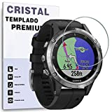 REY Protector de Pantalla para Garmin Fenix 5 / Fenix 5 Plus, Cristal Vidrio Templado Premium