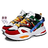 Men's Retro Color Blocked Fashion Sneakers Sport Running Shoes Walking Casual Athletic Shoes(1,10)