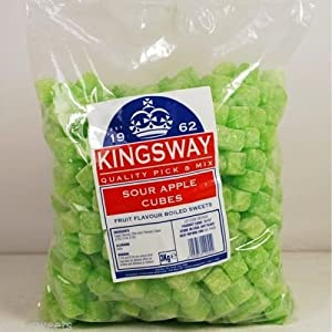 3kg hard boiled kingsway sour apple cube sweets for the retro parties 3KG Hard Boiled Kingsway Sour Apple Cube Sweets For The Retro Parties 51fGS61tWmL