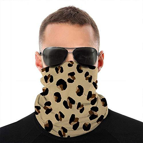 hgdfhfgd Diseño de Estampado de Leopardo Piel de Animal Animales Cara Bufanda Cubierta Deporte al Aire Libre Correr Mujeres Hombres Cubierta de la Cara Variedad Cara Toalla Cuello Diadema