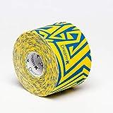 Tape de Sixtus Italia–Dream K Tribe 5cm x 5m–amarillo de azul de El Deporte Tape con efecto–más rápido y cómodo Kinesio Tape Vendaje