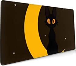Large Gaming Mouse Pad Black Cat and Moon Non-Slip Rubber Thicken 3 Mm Keyboard Mouse Mat Mousepad 15.7