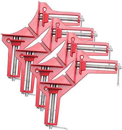 Pinza de ángulo derecho de 90 grados, 4 unidades, alicates de ángulo, tensor de madera y metal, para soldadura, tensor de marco para trabajos de madera, herramientas de mano de madera