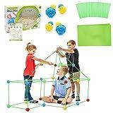 Kids Fort Builder,Kinder Forts Bauspielzeug,DIY-Bauspielzeug,Zelte,Bauen Sie Ihre eigene Höhle Kit,DIY Gebäude Schlösser Tunnel Zelt,Rakete und Spielset,Fort Bausatz,Bauen Sie Schlösser