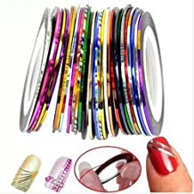 Goliton? 32 Mix Color Rolls Striping Tape Line for Nail Art Decoration Sticker DIY Tips A set of 32 kinds of colors by Goliton