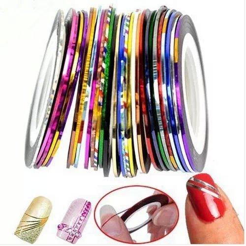 Goliton® 32 Mischfarben Rolls Striping Klebeband Linie für Nagel Kunst Dekoration Aufkleber DIY Tipps