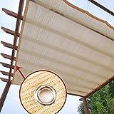 ZZYE Malla Sombreo Toldo Vela de Sombra Rectangular 2 x 3 m, protección Rayos UV Impermeable for Patio, Exteriores, Jardín, Color Arena Lona Toldo