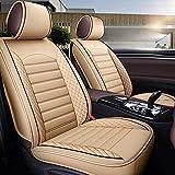 Funda de asiento personalizada Four Seasons compatible con Peugeot 508 4007 4008 Cojín universal de cuero de PU para asiento de coche, juego completo, protector de ajuste automático, 5 asientos, delan
