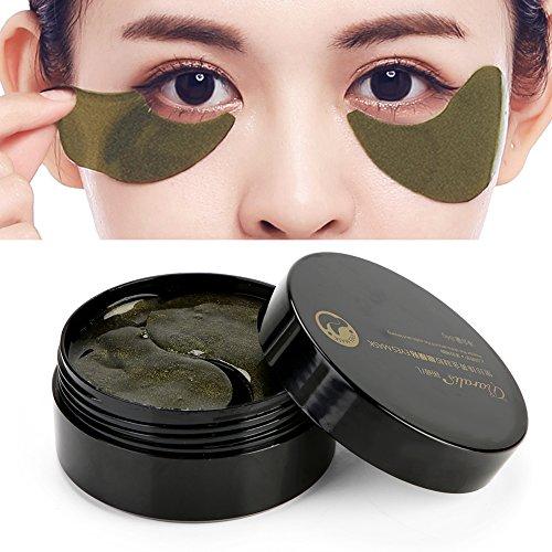Unter Augenmaske, 60 Stück Black Pearl Collagen Augenmaske zur Beseitigung von Falten Blue Eye und Puffy Eyes & Bags