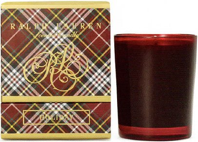 Ralph Lauren Home Holiday Classic 9.6 Oz Candle - Ruby Glass Holder