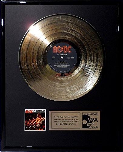 goldene Schallplatte ACDC - Jailbreak '74 Gold Record