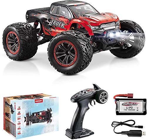 Hosim Grande auto a controllo telerilevo 1:12, camion RC con 46 km/h, RC Offroad Drift Hobby Auto per adulti e bambini (Rosso)