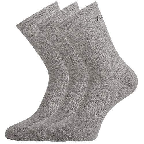 ToesundFeet Herren Antibakterielle Anti Schweiß Geruchtilgende Sportsocken Dress Crew Socken, 3 Paar Grau, Einheitsgröße