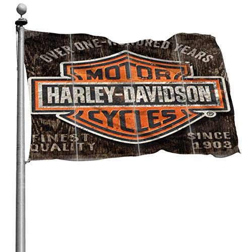 Nicegift Century Harley-Davidson Logo Outdoor Garten Dekoration Banner Frühling Erwärmung Hof für Urlaub Terrasse Party Dekoration Polyester 120 x 180 cm