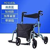 Carros Viejos Pueden Sentarse Cubierta Scooter de Aluminio versátil Andador Carrito de Ruedas Ancianos (Color : E)