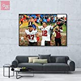 GoGoArt ROLL Canvas Unstretched Print Wall Art home decor Photo Poster (not Framed) Tom Brady Tampa Bay Buccaneers Super Bowl 2021 MVP Champions NFL Sports Football Trophy A-0374-1.5 (24 X 36 inch)