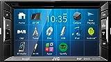 JVC Autoradio 2 DIN Spotify Control mit Bluetooth für Mercedes C-Klasse w204 S204 2007-2011 incl Einbauset schwarz mit Tasten/Canbus