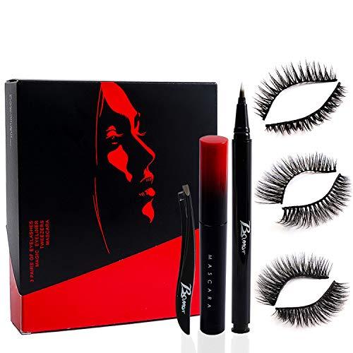 【2020 UPGRADE】Magnetische Wimpern, Magnetic Eyeliner Und Mascara,Magnetic Eyelashes...