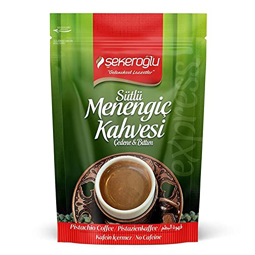 Turkish Coffee Menengiç,Menengiç Kahvesi ,Menengic Coffee(pistachio coffee) Çitlembik, Çedene, Çitemik, Çıtlık By Sekeroglu 200 Gr 7 Oz Non-GMO, Vegan, Halal قهوة تركية ، قهوة ميننجيك ، قهوة عثمانية