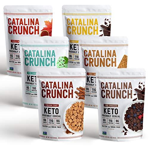 Catalina Crunch Keto Cereal Variety Pack (6 Flavors), 9oz bags   Low Carb, Zero Sugar, Gluten & Grain Free, Fiber   Keto Snacks, Vegan Snacks, Protein Snacks   Keto Friendly Foods