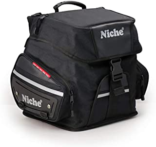 Niche Motorcycle Tail Bag Travel Luggage, Weather Resistant Touring Seat Bag for Sports Bike and Street Bike, Motorcycle R...
