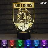 Black Base Boxer niedlichen Hund 3D Nachtlicht, sieben Farben Desktop Dekoration Licht, Touch-Fernbedienung visuelles Licht, Urlaub, Geburtstag, perfekte Kinder Geschenk