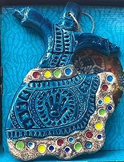 EnneaArt Turkish Handmade Ceramic Whirling Dervish Mevlana Wall Hanging Pendant Ornament