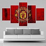 TytlPrints Kreative 5 Stücke Manchester United Flag Sport
