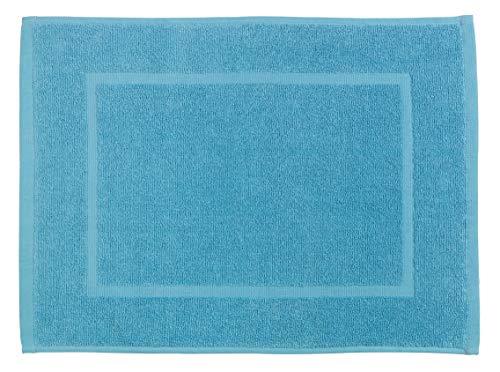 Allstar Alfombra de baño de terry Zen azul - Alfombra de ducha, Algodón, 40 x 60 cm, Azul