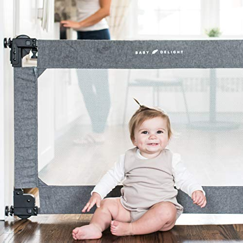 Baby Delight Go with Me Span Expandable Folding Gate, Charcoal Tweed