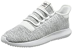 adidas Men's Tubular Shadow Knit Running Shoes, White (FTWR White / FTWR White / core Black), 44 EU
