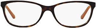 Ralph Lauren Women's RL6135 Rectangular Prescription Eyeglass Frames, Dark Havana/Demo Lens, 52 mm