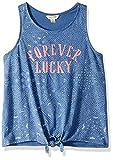 Lucky Brand Women's Little Girls' Sleeveless Fashion Tank Top, Katia True Navy, 4/5