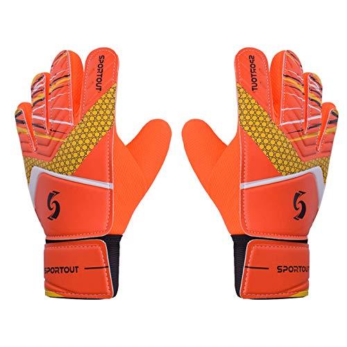 Sportout Guantes de portero para niños y niñas, guantes de entrenamiento (naranja, 5)
