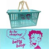 ベティ・ブープ アメリカン プラスチック マーケット バスケット (Lサイズ ブルー) 買い物かご アメリカン アメリカ 雑貨 収納 整理 レジャー ベティブープ ベティちゃん ベティーちゃん Betty Boop ベティ グッズ