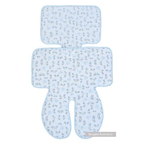 Capa para Carrinho e cadeirinha papi composê dupla face, 77cm x 47cm 01 un, Papi Textil, Azul