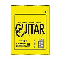 Wtbhd. 1セットのサウンドギターロープ6コーナーコアとニッケルフル、明るいブロンズ (Color : TX630)