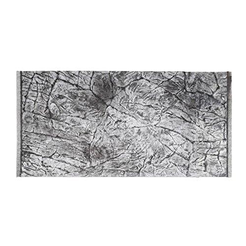 Décor de fond 3D pour aquarium - Effet ardoise - Gris - 120 x 60/117 x 54 cm