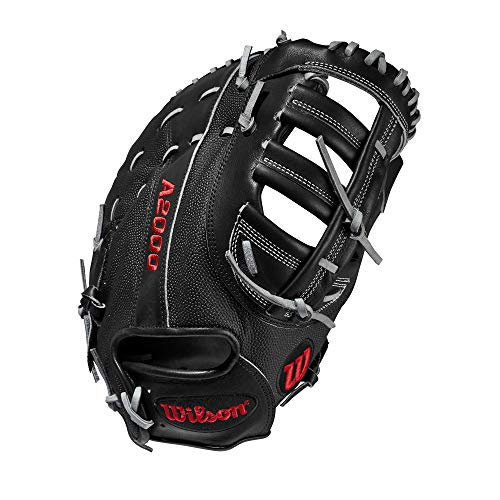 Wilson A2000 12.5-Inch SuperSkin Baseball Glove, Black/Grey, Left (Right Hand Throw)