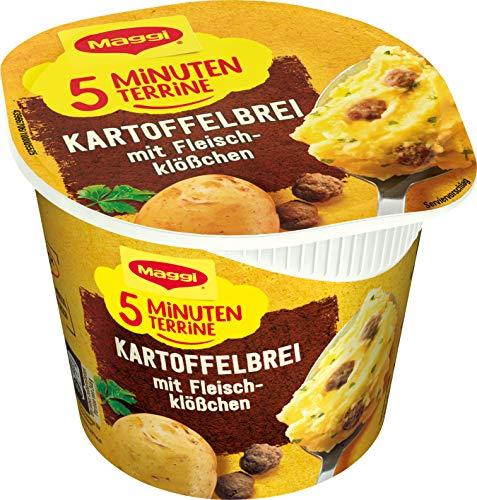 Maggi 5 Minuten Terrine Kartoffelbrei mit Fleischklößchen, mit Rindfleisch, 46g