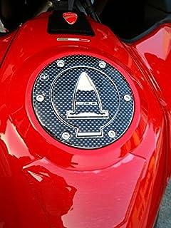 2 Autocollants 3D Protections Lat/érales de R/éservoir Carbone pour Moto Ducati Multistrada 1200