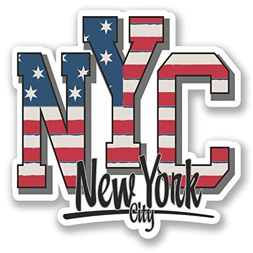 2 x 10cm New York City USA Vinyl Sticker Travel Luggage Tag Car Laptop Fun #5747 (10cm x 10cm)