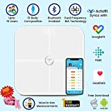 Actofit Body Fat Analyser Smart Scale with Complete Digital Composition Monitor with bluetooth