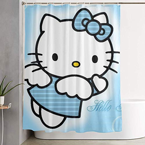 LOV Hello Kitty Shower Curtain Decor for Men Women Boys Girls 60x72 in